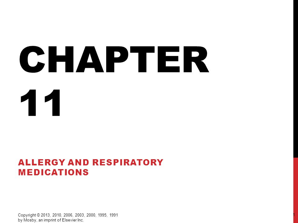 Allergy and Respiratory Medications