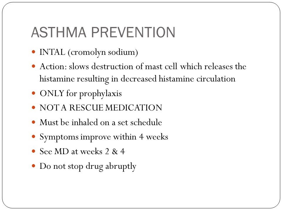 ASTHMA PREVENTION INTAL (cromolyn sodium)