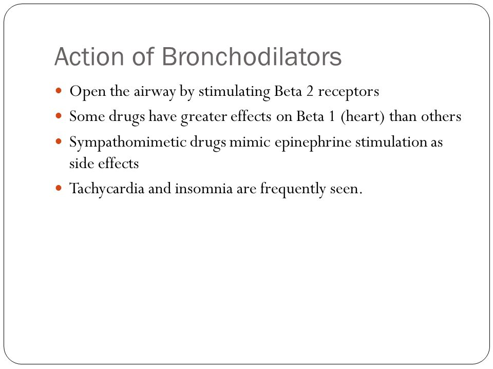 Action of Bronchodilators