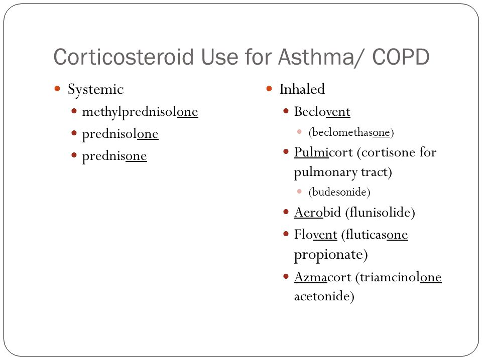 Corticosteroid Use for Asthma/ COPD
