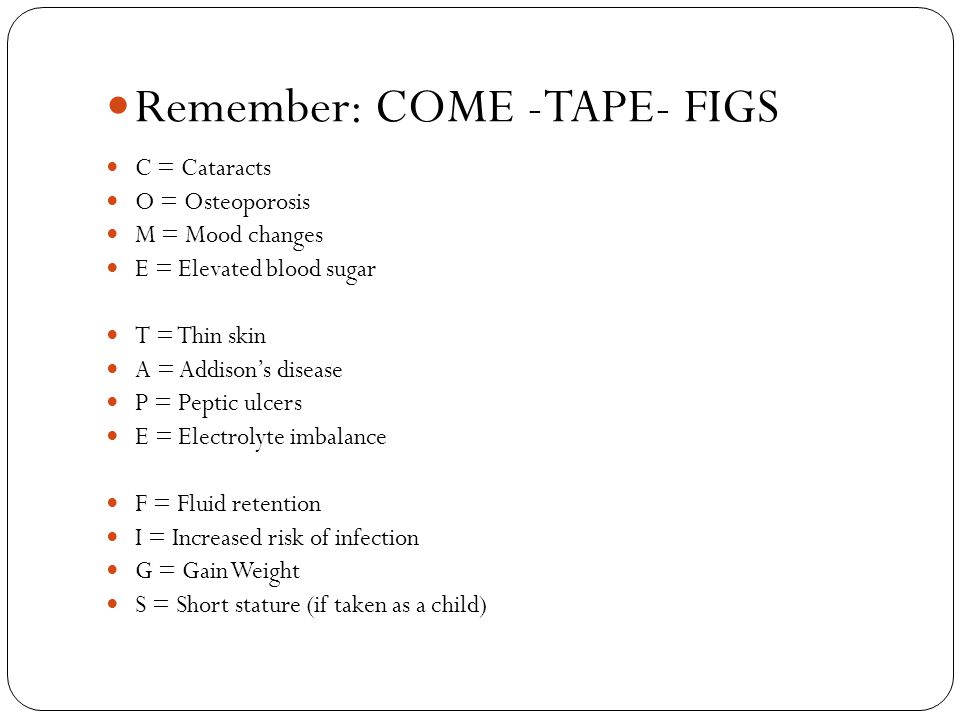 Remember: COME -TAPE- FIGS