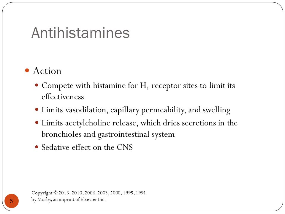 Antihistamines Action