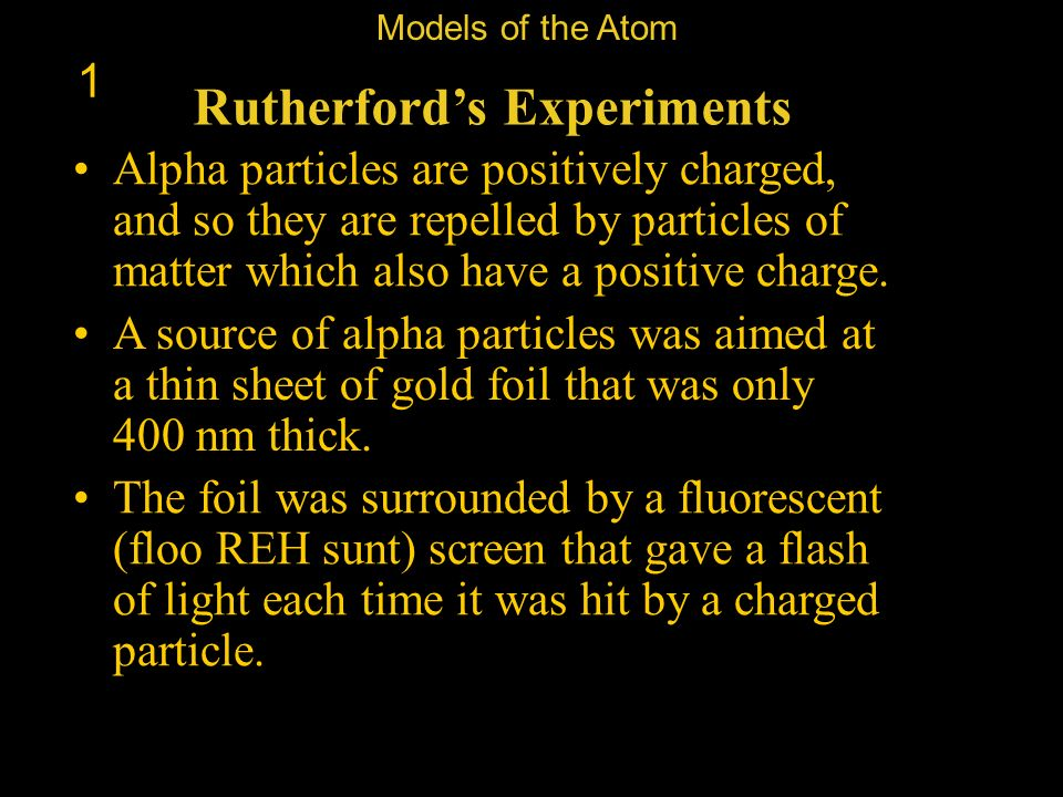 Rutherford's Experiments