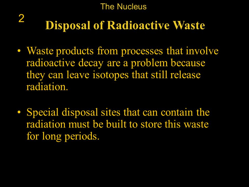 Disposal of Radioactive Waste