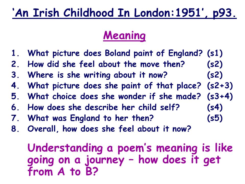 'An Irish Childhood In London:1951', p93.
