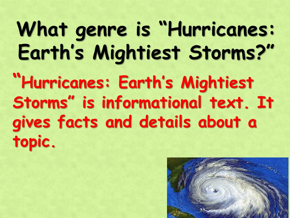 What genre is Hurricanes: Earth's Mightiest Storms