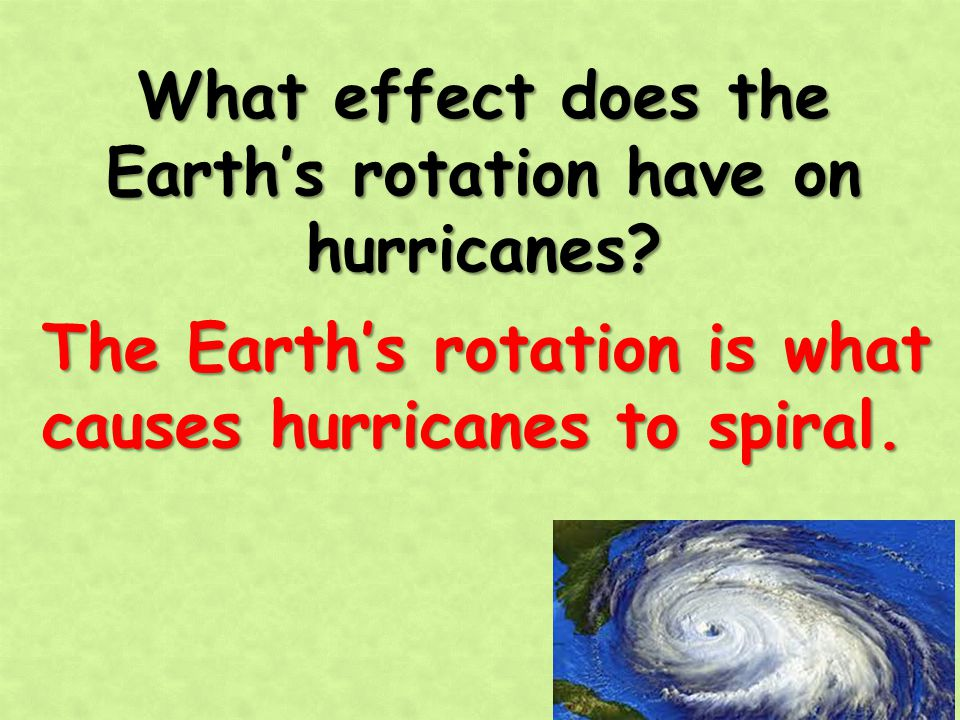 What effect does the Earth's rotation have on hurricanes