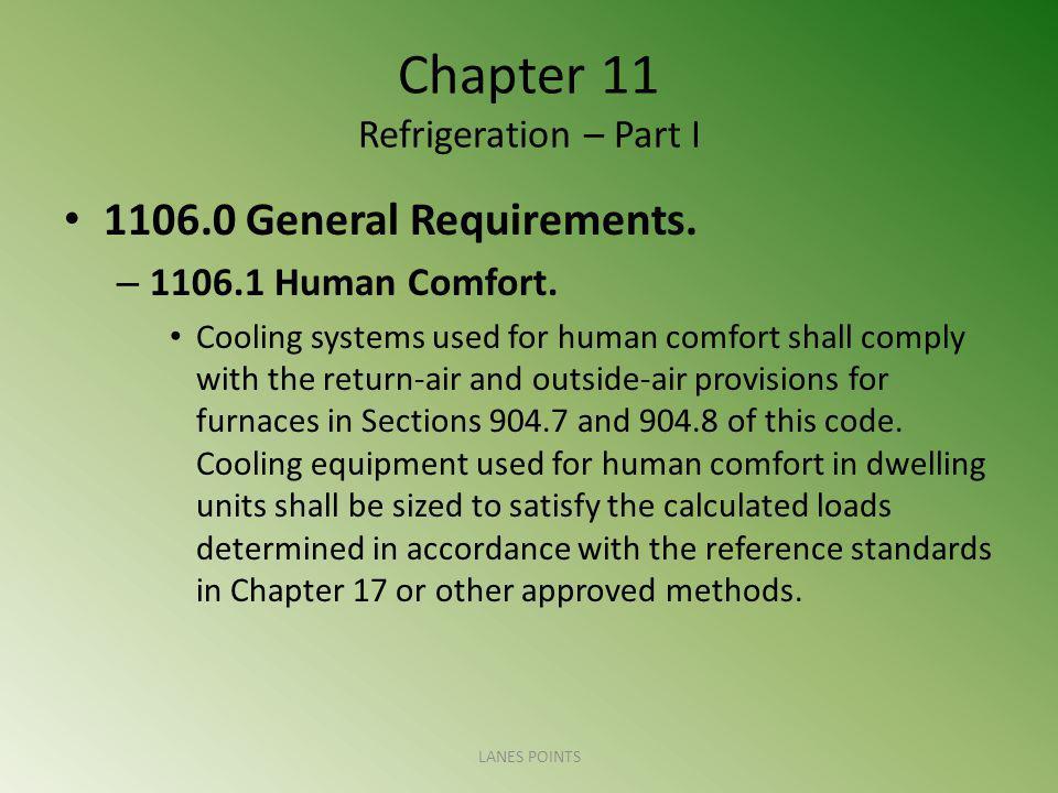 Chapter 11 Refrigeration – Part I