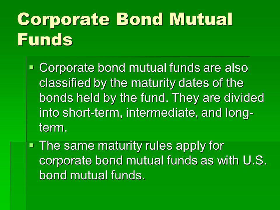 Corporate Bond Mutual Funds