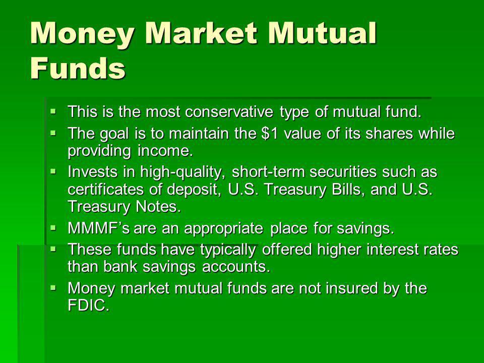 Money Market Mutual Funds