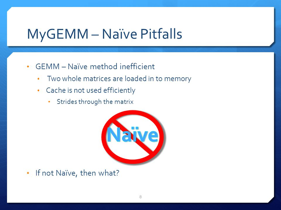 MyGEMM – Naïve Pitfalls