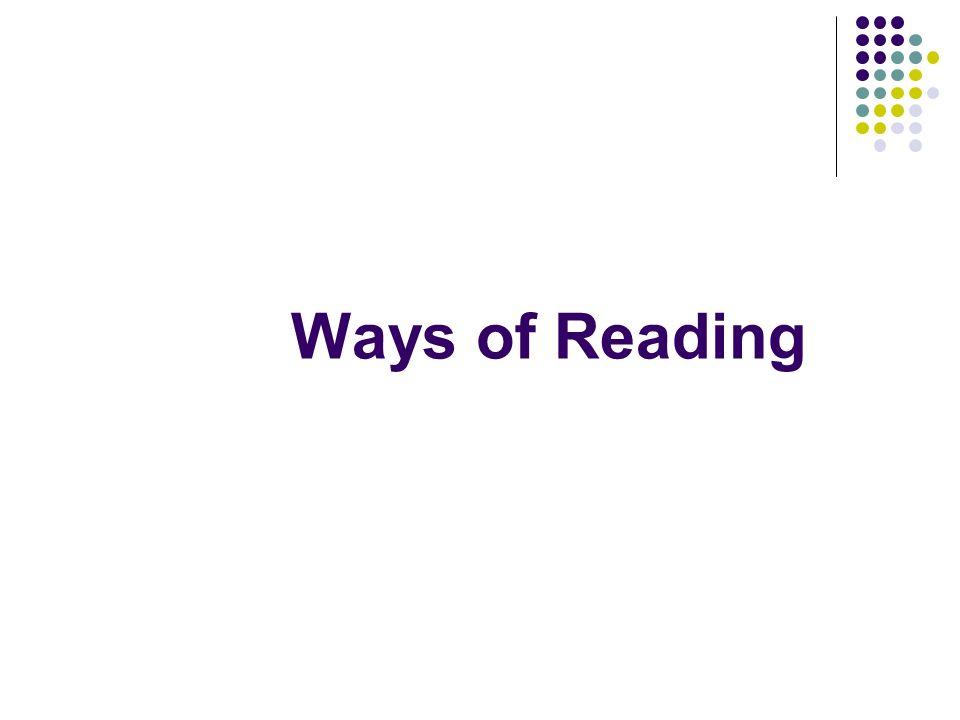 Ways of Reading