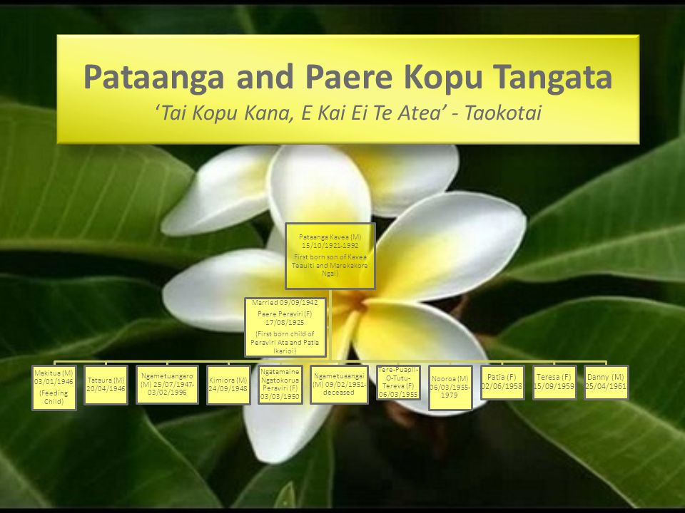 Pataanga and Paere Kopu Tangata 'Tai Kopu Kana, E Kai Ei Te Atea' - Taokotai
