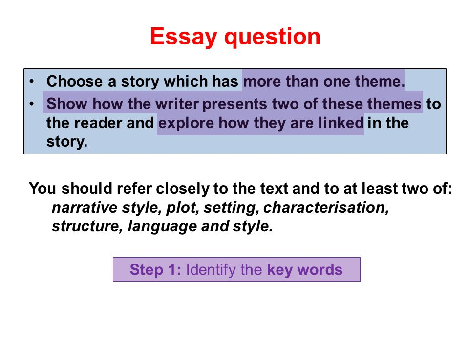 questions for essays