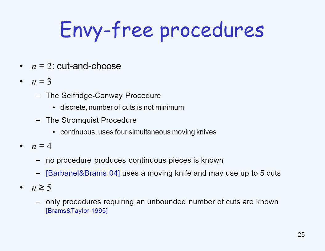 Envy Free Cake Cutting