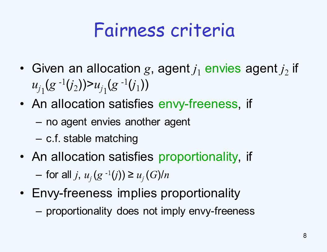 Why not… Consider fairness in other social choice problems