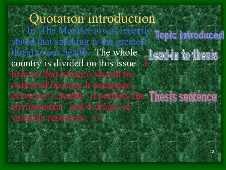Quotation introduction