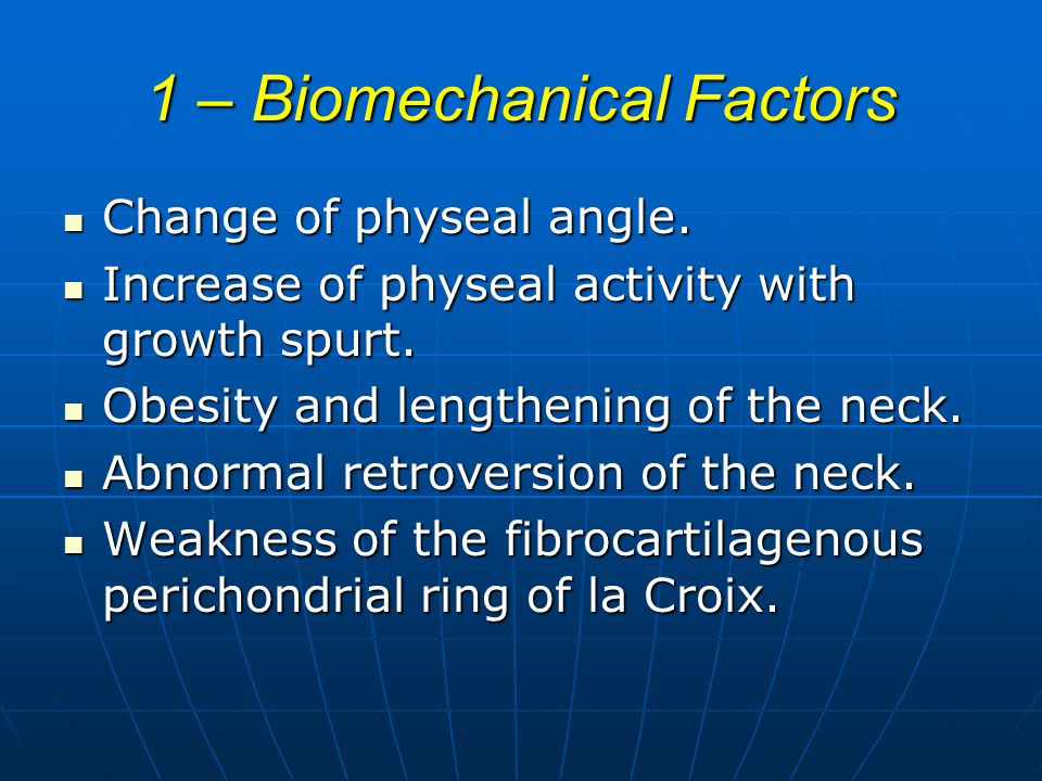 1 – Biomechanical Factors
