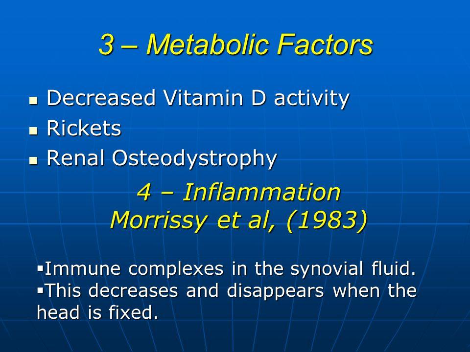 4 – Inflammation Morrissy et al, (1983)