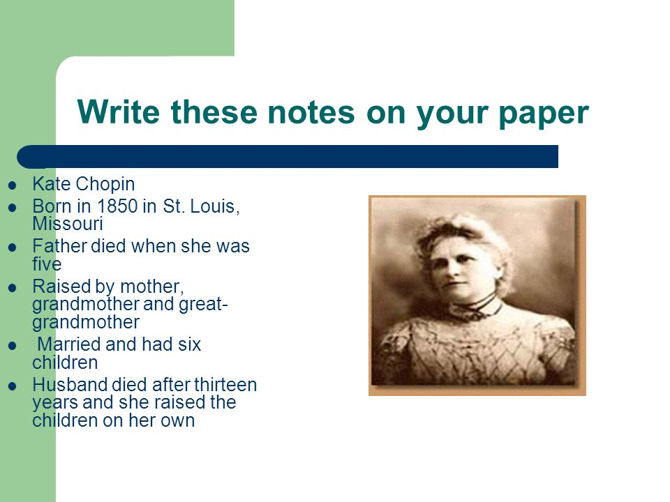 Write these notes on your paper