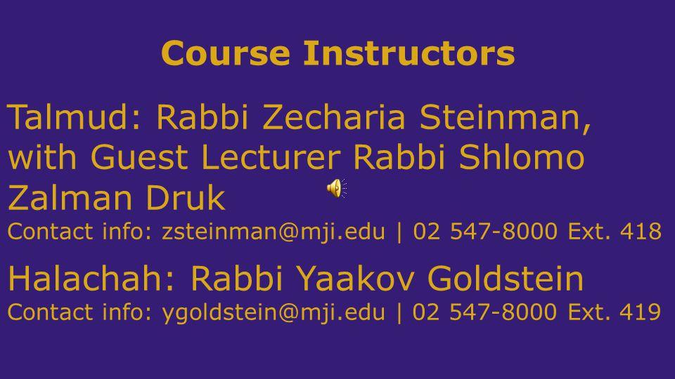 Halachah: Rabbi Yaakov Goldstein