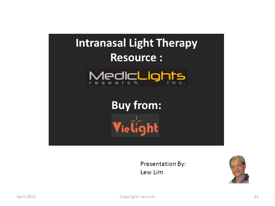 Intranasal Light Therapy Resource :
