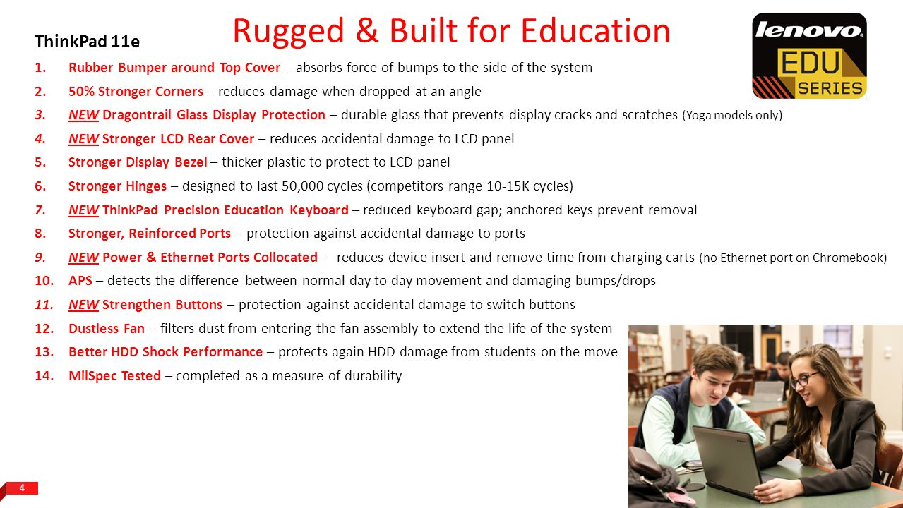 Rugged & Built for Education