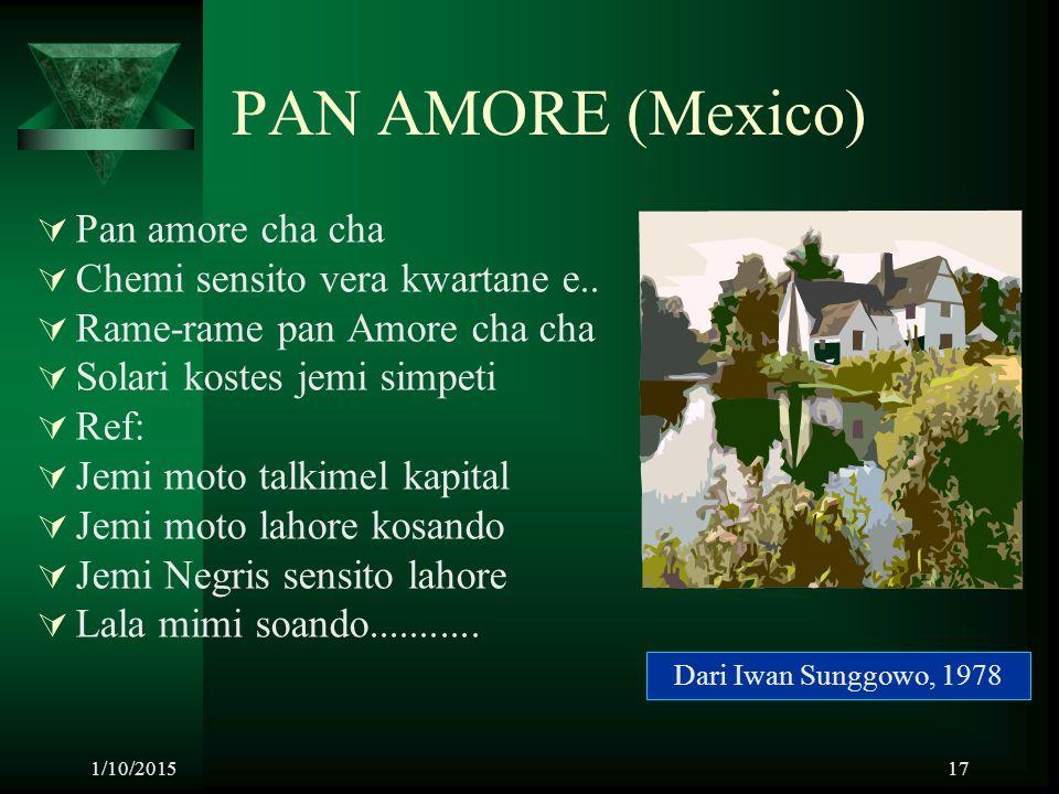 PAN AMORE (Mexico) Pan amore cha cha Chemi sensito vera kwartane e..