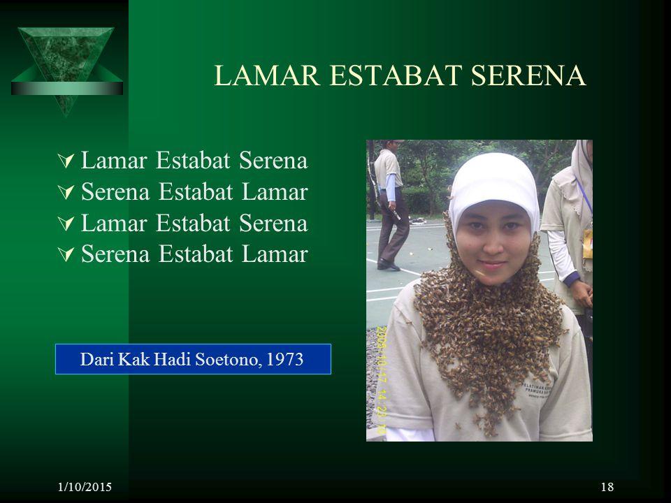 LAMAR ESTABAT SERENA Lamar Estabat Serena Serena Estabat Lamar