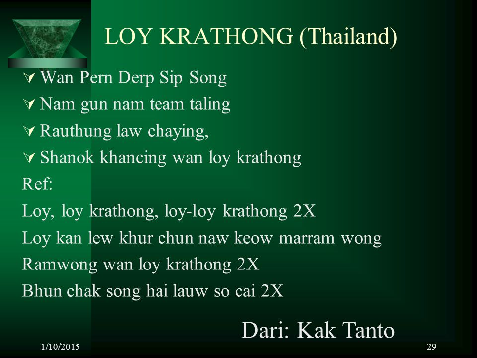 LOY KRATHONG (Thailand)