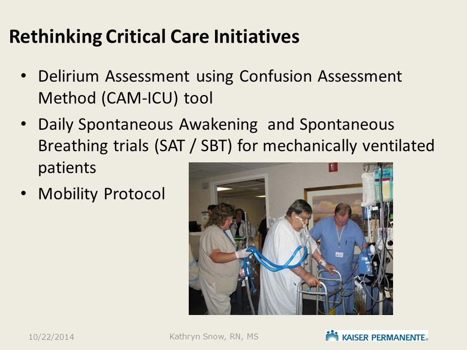 Rethinking Critical Care Initiatives