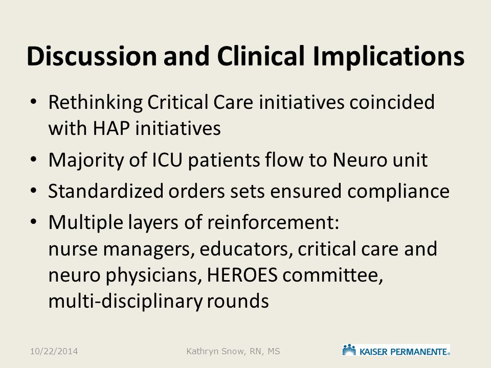 Discussion and Clinical Implications