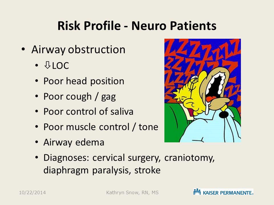 Risk Profile - Neuro Patients