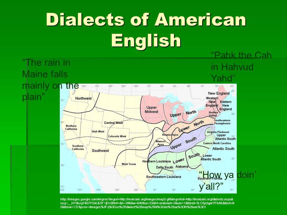Dialects of American English