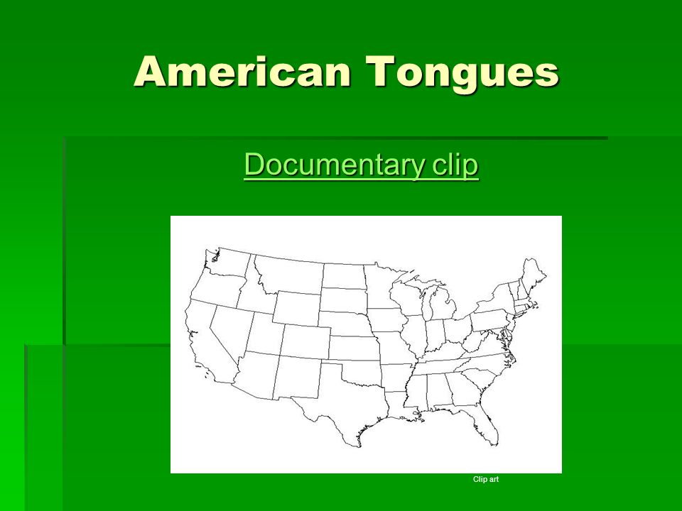 American Tongues Documentary clip Clip art