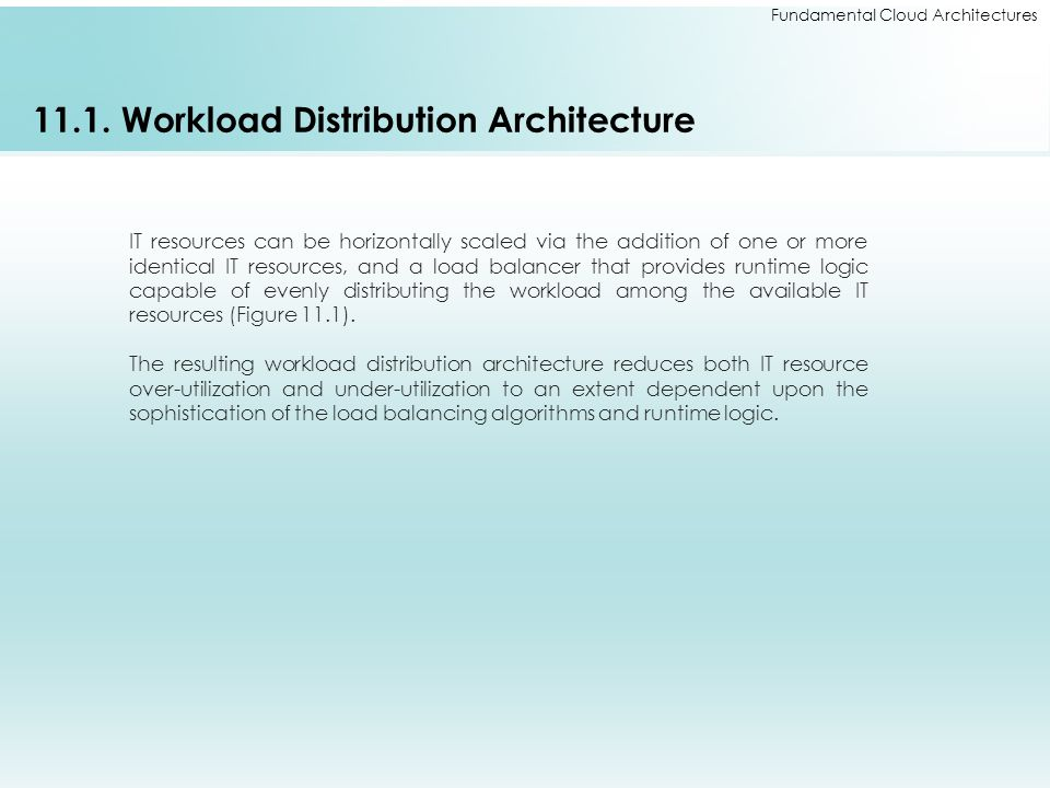 11.1. Workload Distribution Architecture