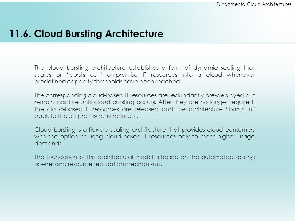 11.6. Cloud Bursting Architecture