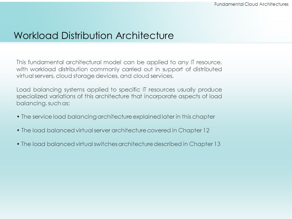 Workload Distribution Architecture
