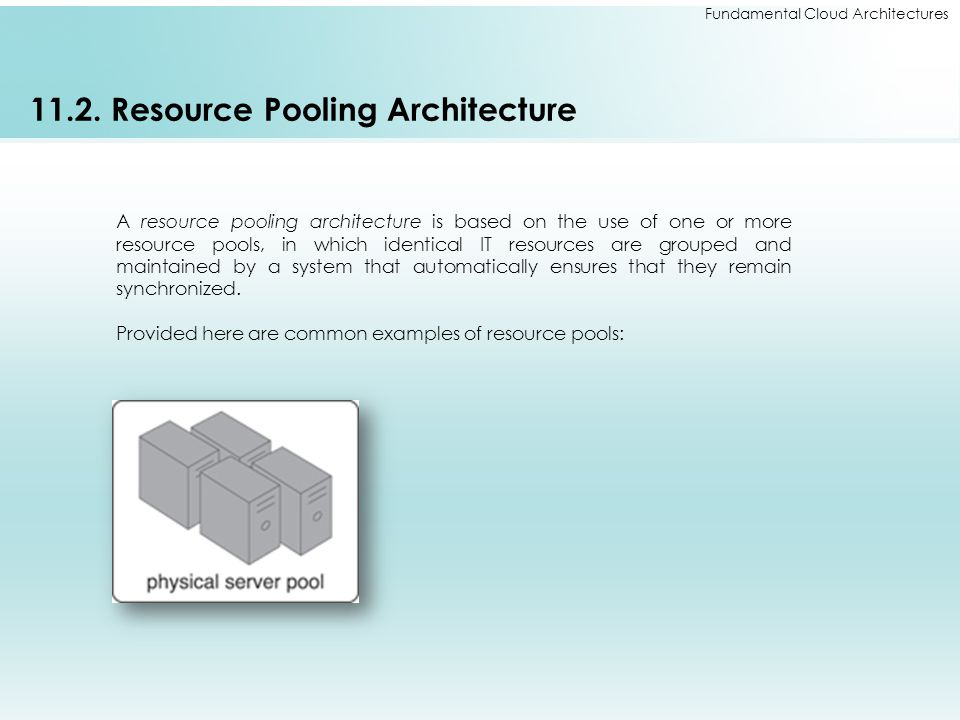 11.2. Resource Pooling Architecture
