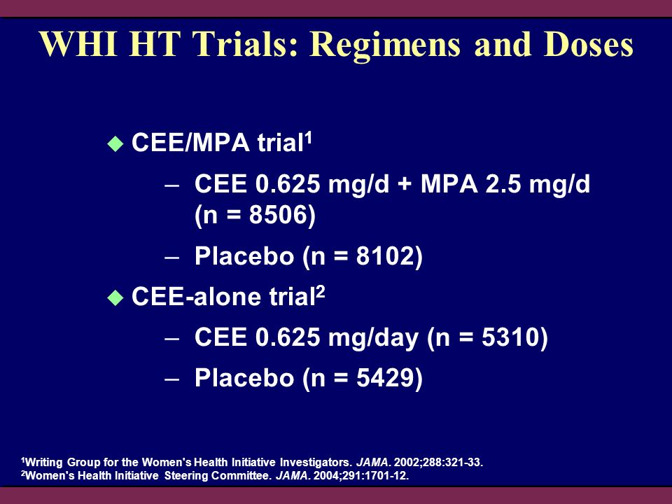 WHI HT Trials: Regimens and Doses