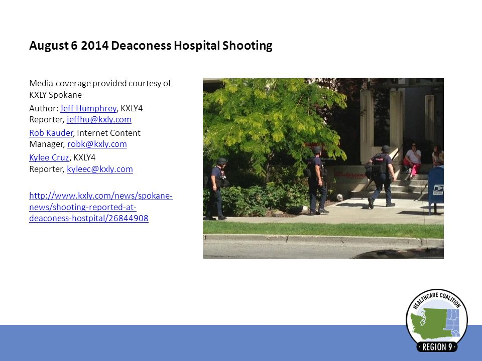 August 6 2014 Deaconess Hospital Shooting