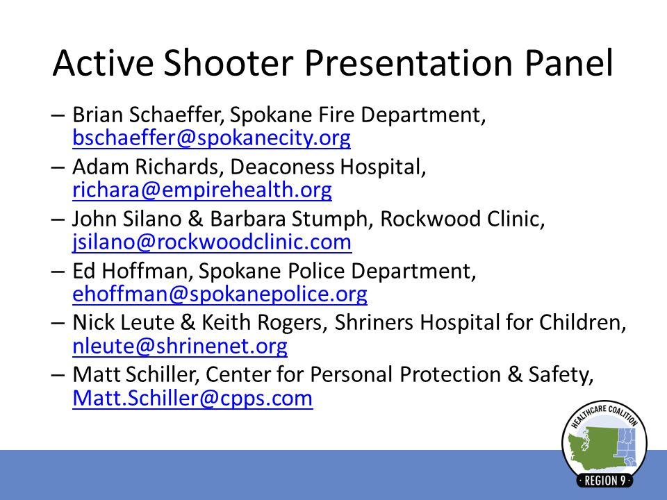 Active Shooter Presentation Panel