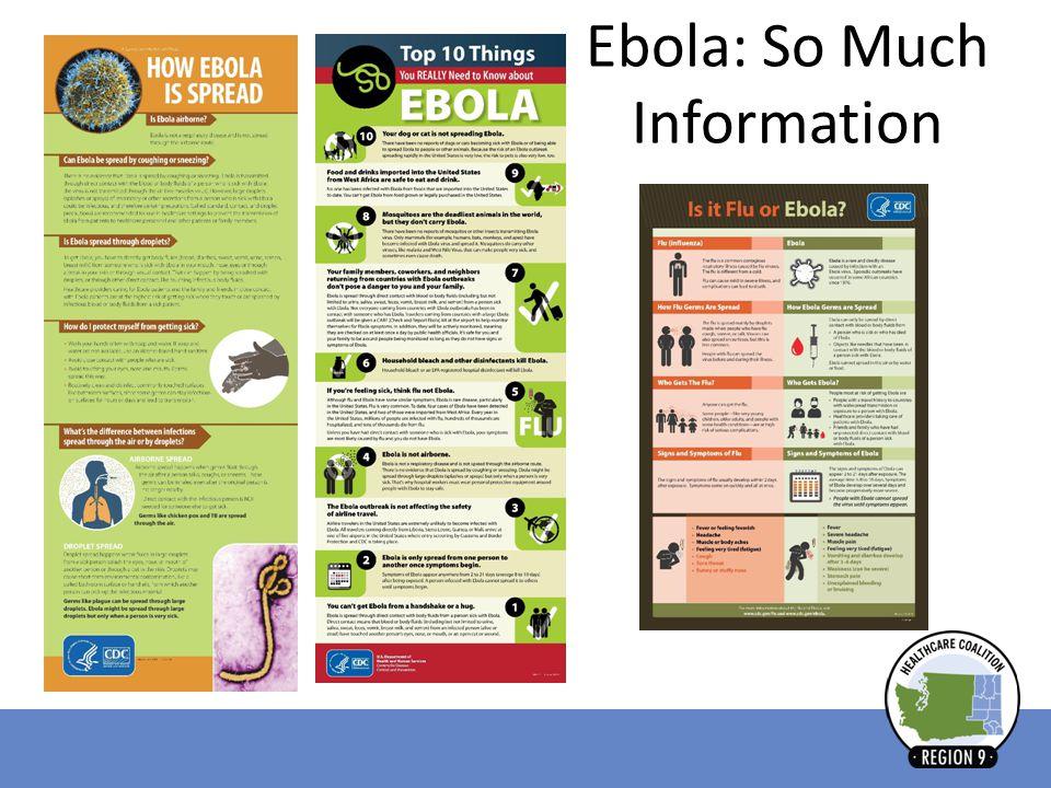 Ebola: So Much Information