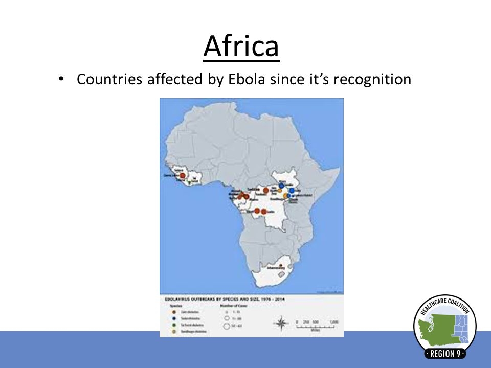 Africa Countries affected by Ebola since it's recognition