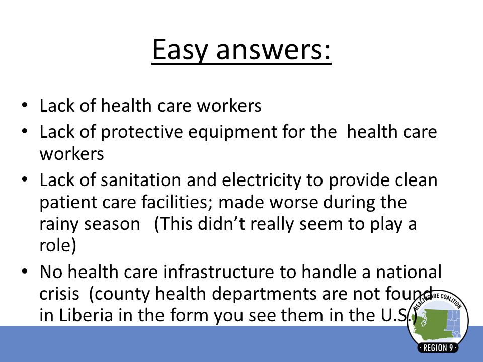 Easy answers: Lack of health care workers