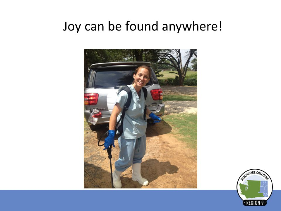 Joy can be found anywhere!