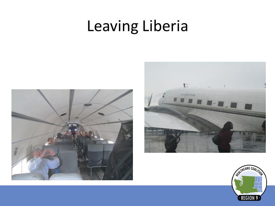 Leaving Liberia