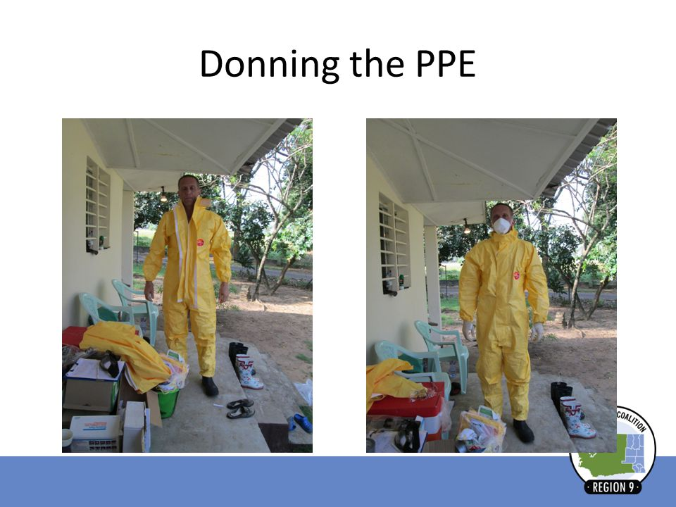 Donning the PPE