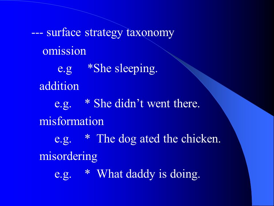 --- surface strategy taxonomy