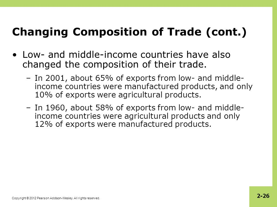 Changing Composition of Trade (cont.)